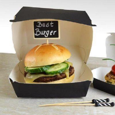 Chiếc hộp giấy đựng bánh hamburger