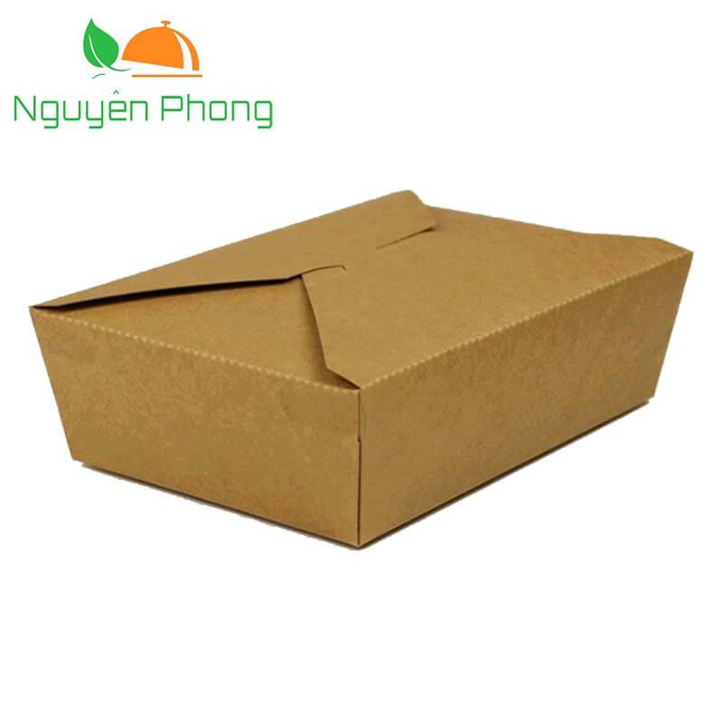 Hộp giấy đựng thức ăn móc chéo