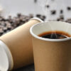 ly giấy kraft nâu 2 lớp giấy đựng đồ uống nóng và lạnh