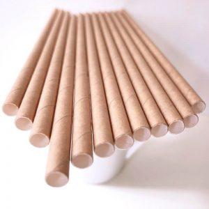 ống hút giấy kraft nâu