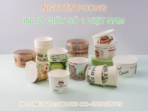 in tô giấy thương hiệu Nguyên Phong